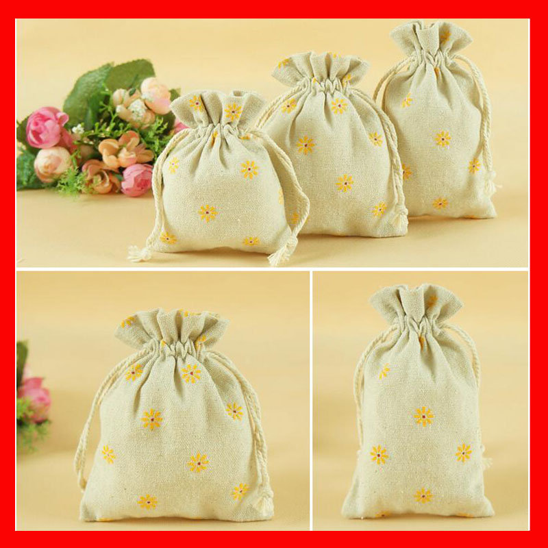 (200pcs/lot) Wholesale printed fabric gift bags