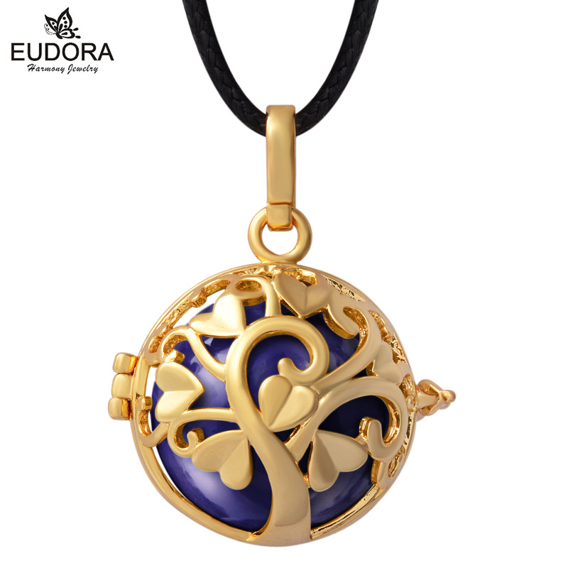 Gold Color Cage For 20mm Ball Thanks Giving Tree Floating Locket Pendent Angel Caller Pregnancy Chime Ball Harmony Bola