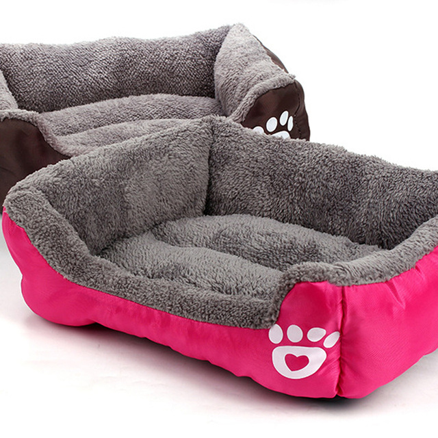 Fast Shipping New Dog Bed Footprint Cotton Velvet Pet Nest Warm Hondenmand Fall And Winter Dog House For Cat Pet Supplies