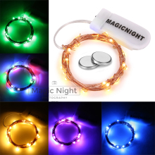 Magicnight Firefly String Starry Light Warm White Micro LED Lights Battery Operated  for Home Decor Included Battery