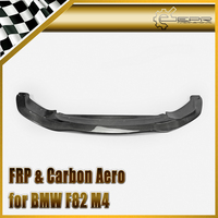 Car Styling For BMW F82 M4 Carbon Fiber PSM Style Front Lip Glossy Fibre Finish Bumper Splitter Auto Racing Accessories Body Kit