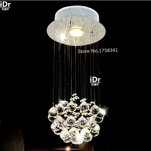 Small Foyer Crystal Chandelier : Modern crystal chandelier penthouse stair long corridor