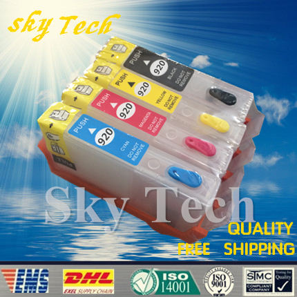 цены  4PK Empty Refillable Cartridge suit for HP920 ,suit for HP Officejet 6000 6500 6500A 7000 7500 7500A etc , With ARC Chips
