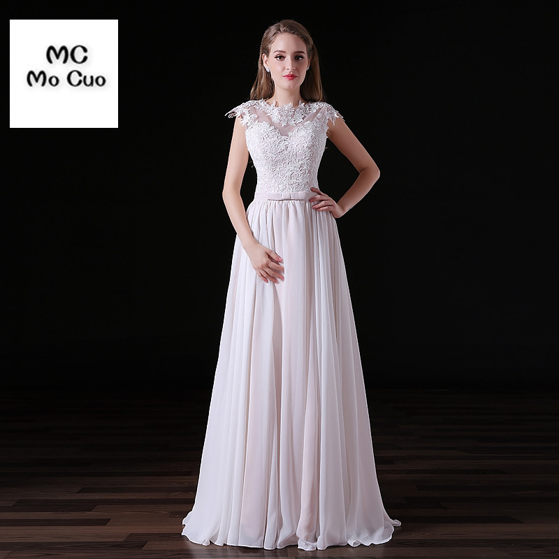 Elegant 2017 New Wedding Dress with Appliques Scoop Cap Sleeve Vestidos de novia Bridal Dress Classic Wedding Gown Custom