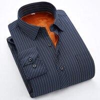 2016 Men S Shirt Plus Thick Velvet Plaid Shirt Male New Autumn And Winter Warm Long