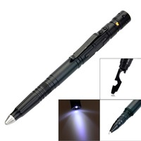 Laix B007 2 Multifunctional Tactical Pen EDC Tool Ballpoint Writing Pen With LED Flashlight Emergency Glass