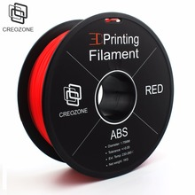 CREOZONE ABS 3D Printer Filament 1.75mm 1KG (2.20LBS) 3D Printing Filament Plastic for 3D Printer Red