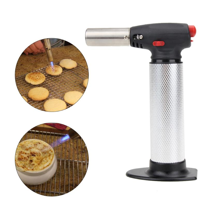 Butane Micro Blow Torch Gas Torch 1300 Burner Soldering Flame Cook for BBQ Hookah Welding Practical Cooking Kitchen Accessorie