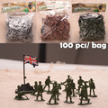 ( 100 PCS / Bag ) 1/32 Scale Miniatures Modern US Soldiers Boy Toys Resin Model Military Figures Toys