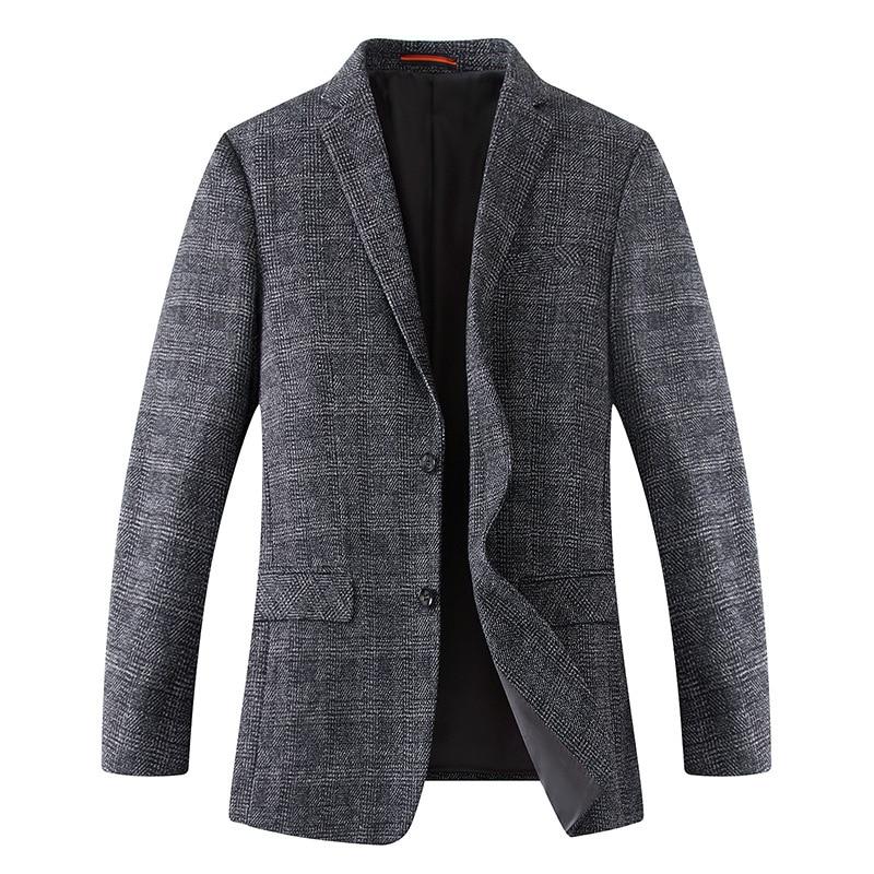 Men Plus Size 6XL 8XL 7XL Men Blazers Wool Jacket New Arrival Brand Clothing Autumu Suit Jacket Men Blazer Jacket Male Suits
