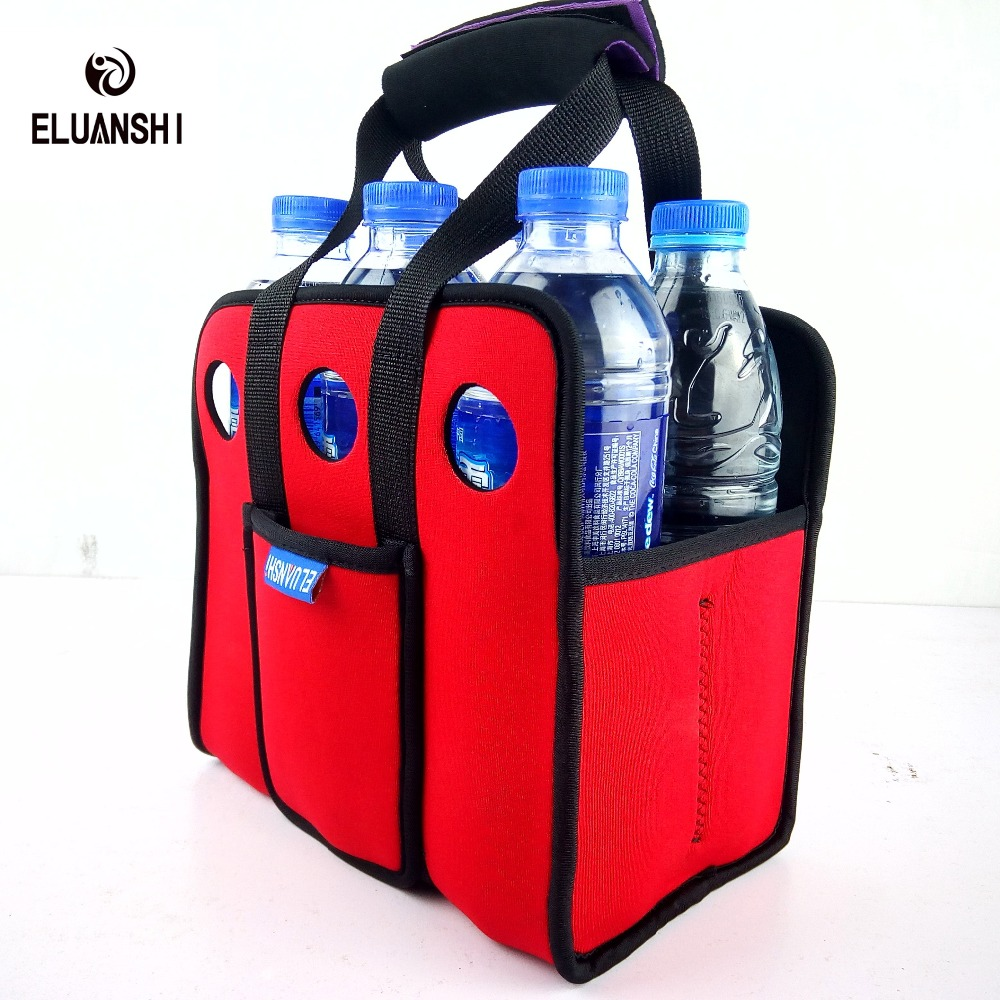 Neoprene 6 Beer Can Outdoor <font><b>Ice</b></font> Gel Picnic Wine Box Chillers Frozen Bag <font><b>lunch</b></font> Bottle Water Cooler Nylon Camping Tableware <font><b>pack</b></font> image