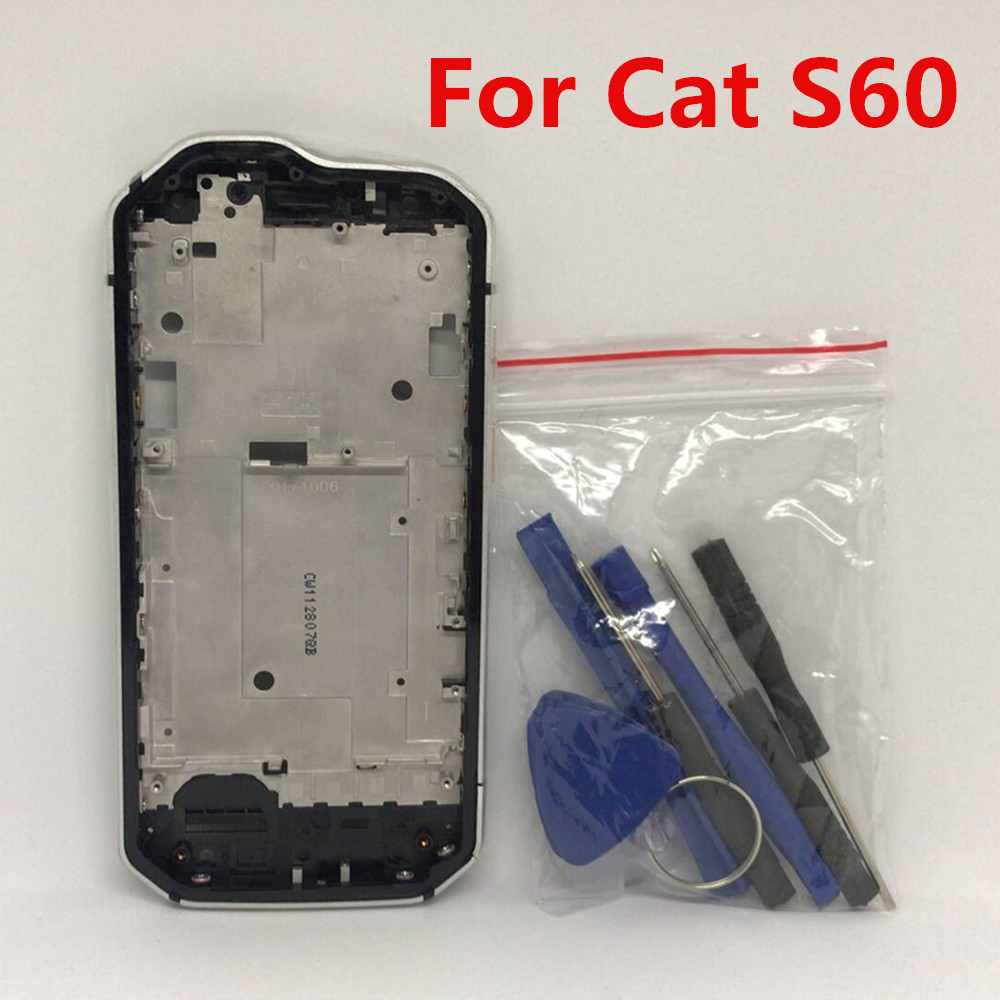 New For Caterpillar Cat S60 Cellphone 4.7'' IP68 Wateproof Middle Frame Housings Case With Sim Card Slot Side Buttons Parts
