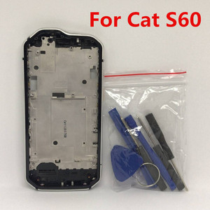 Image 1 - New For Caterpillar Cat S60 Cellphone 4.7 IP68 Wateproof Middle Frame Housings Case With Sim Card Slot Side Buttons Parts