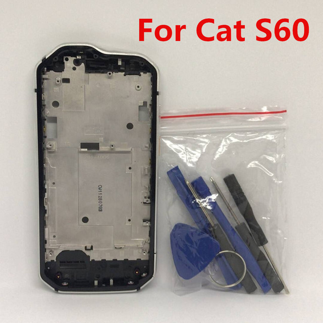 New For Caterpillar Cat S60 Cellphone 4.7 IP68 Wateproof Middle Frame Housings Case With Sim Card Slot Side Buttons Parts