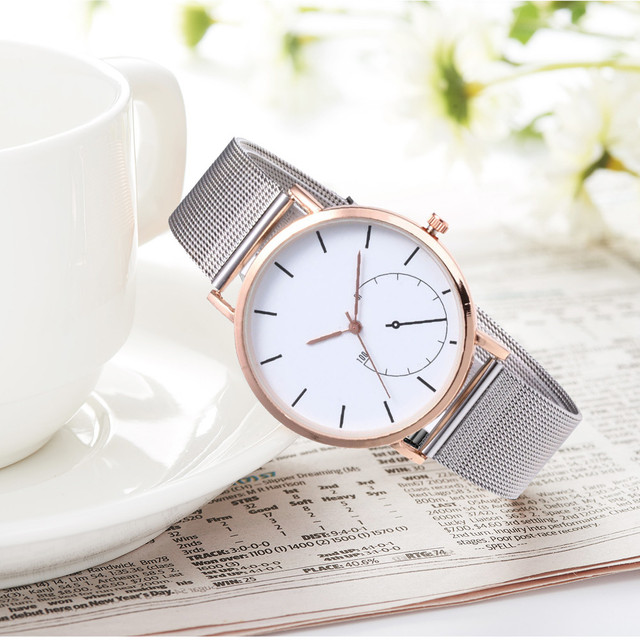 2018 Very Chic Stylish Womens Classic Quartz Stainless Steel Wrist Watch Bracele