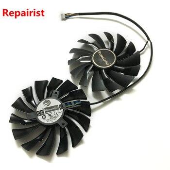 2 шт./лот кулер для видеокарт GTX 1080/1070/1060 вентилятор для msi GTX1080 GTX1070 ARMOR 8G OC GTX1060 графическая карта GPU охлаждение