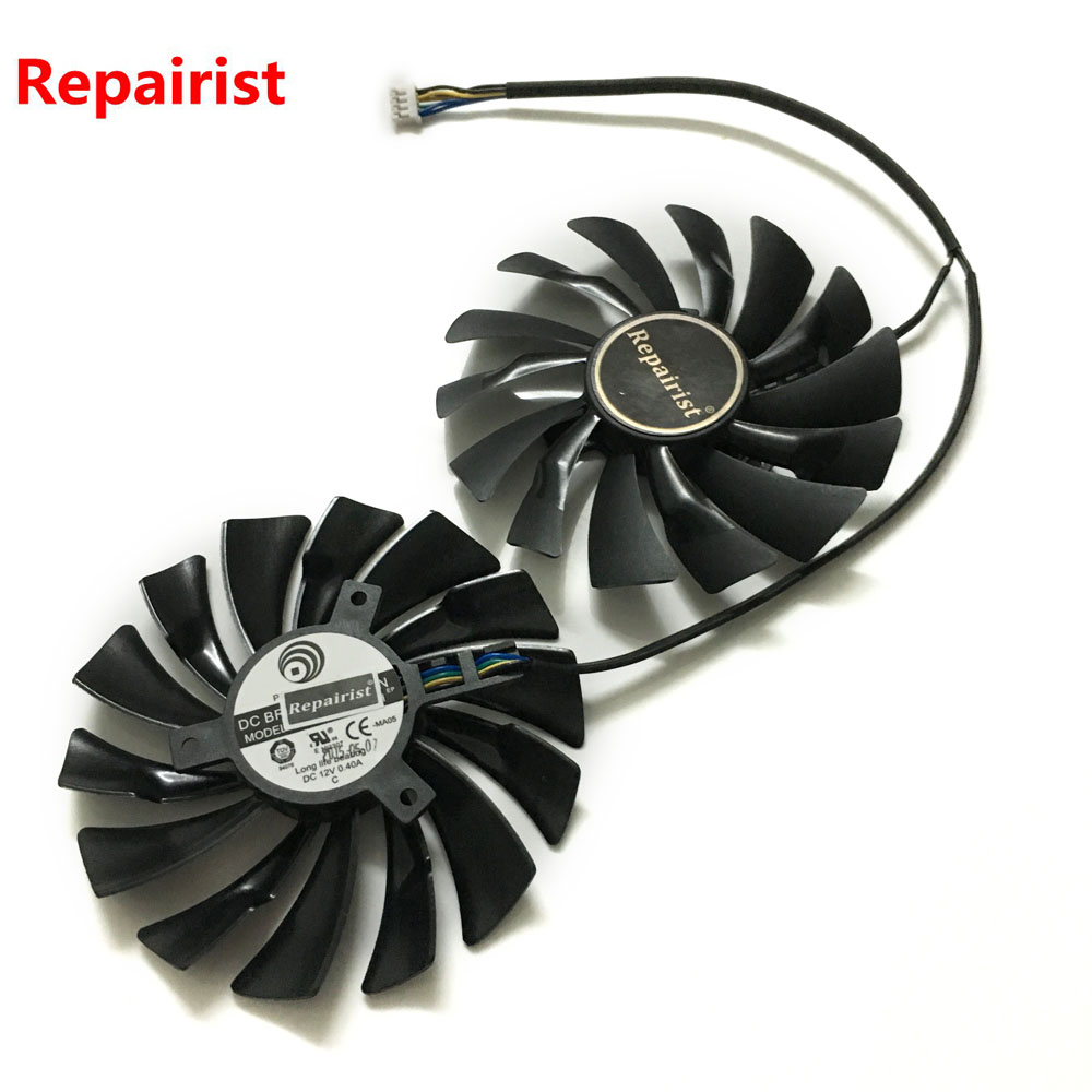 2pcs/lot video cards cooler GTX 1080/1070/1060 fan For msi GTX1080 GTX1070 ARMOR 8G OC GTX1060 Graphics Card GPU cooling 75mm pld08010s12hh graphics video card cooling fan 12v 0 35a twin for frozr ii 2 msi r6790 n560gtx r6850 n460gtx dual cooler fan
