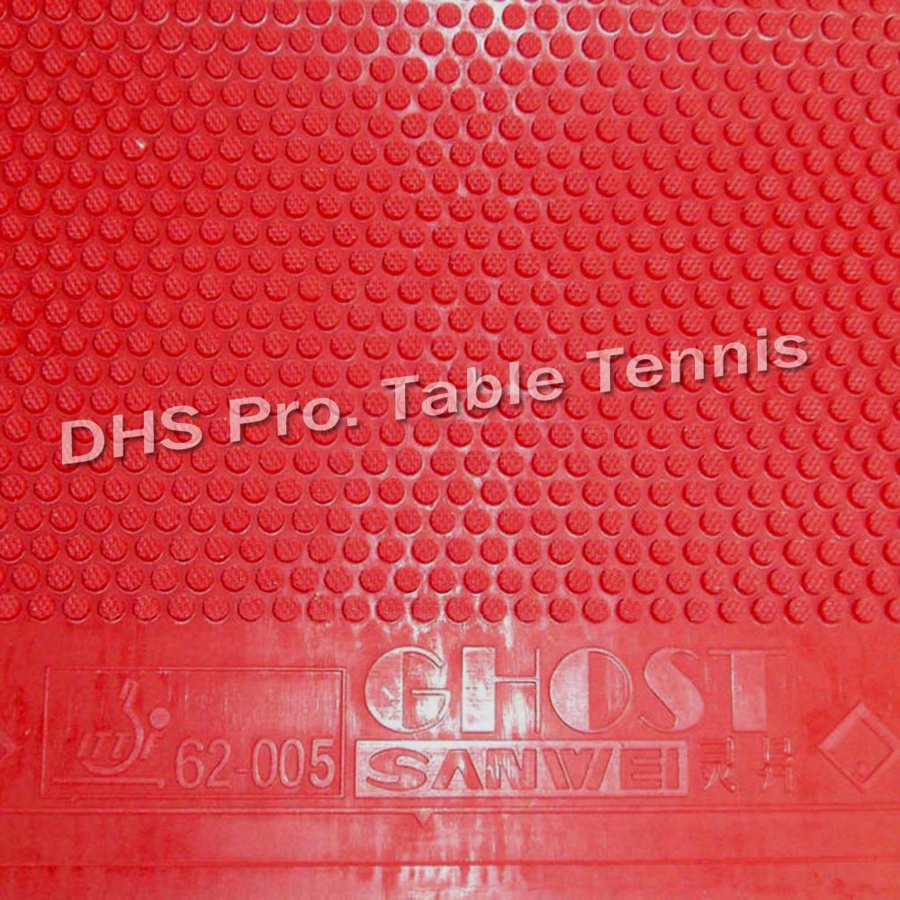 Sanwei Ghost  Short Pips-Out Table Tennis  Rubber (without Sponge)red