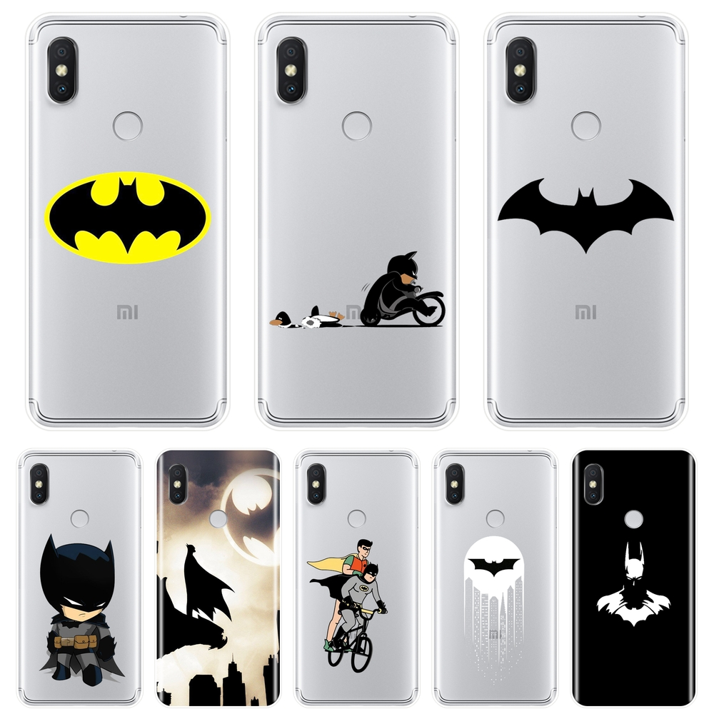 For Pocophone F1 Xiaomi Redmi Note 6 Pro <font><b>5A</b></font> Prime <font><b>5</b></font> 4 4X Redmi S2 6A <font><b>5</b></font> Plus 4A Phone Case Silicone Soft Marvel Batman Back Cover image