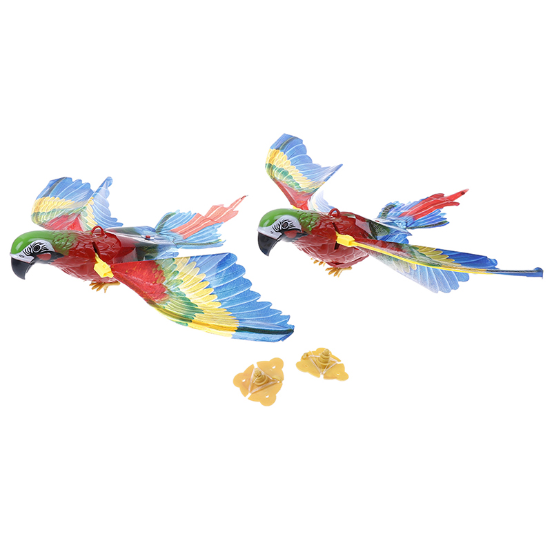 Electronic Pets Colorful Pet Bird Parrot Toy Plastic Electric Sound Fly Wing Talking Lovebird Animals Battery Power Toys For Children Gift