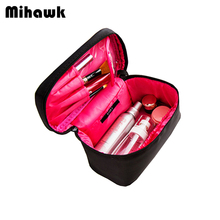 Double Colors Travel  Cosmetic Bag  Waterproof Makeup Cases Pouch Beauty Brushes Toiletry Organizer Accessories Supplies Product
