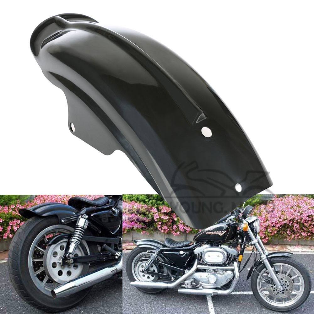 Black Rear Fender Splash Mudguard For Harley Sportster XL 883 / 1200 Solo Touring Bobber Chopper Cafe Racer 1994-2003 Bike 22 bobber cafe oldschool chopper