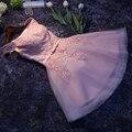 Vestidos de Noite rosa Curto Vestidos de Praia Sexy Vestidos de Convidado Do Casamento Vestidos-Para-Noivas S033