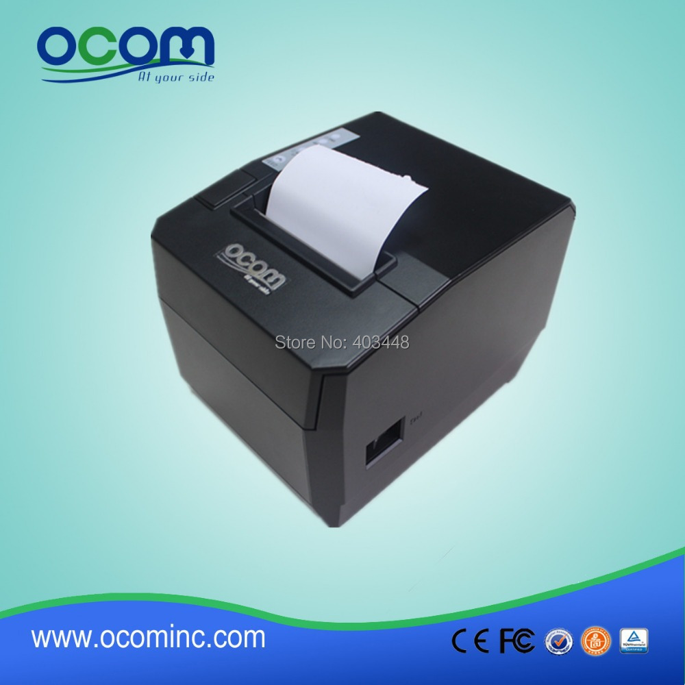 2016 80mm USB Serial LAN Interface 80MM Thermal Receipt Printer With Manual Cutter OCPP-88A-URL0