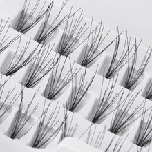 60PCS Set Natural Long Individual 8/10/12/14mm Fake False Eyelashes Black Mink