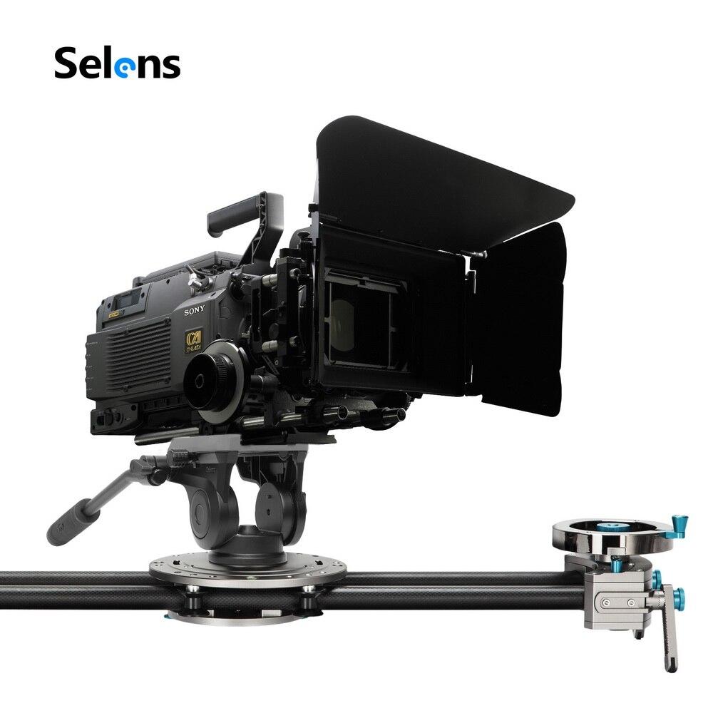 Selens professionnel trépied en aluminium bidirectionnel vidéo tête de trépied avec poignée de barre panoramique pour DSLR ILDC caméra pour trépied monopode