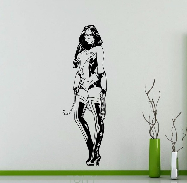 Wonder Woman Wall Decal DC Marvel Comics Superhero Vinyl
