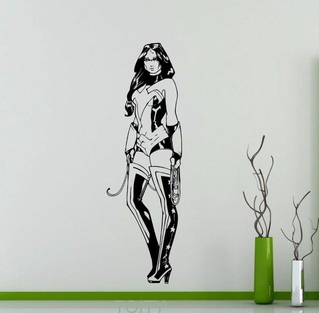 Wonder Woman Wall Decal Dc Marvel Comics Superhero Vinyl
