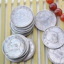 Серебряный доллар Китая, Yuan Datou серебряный доллар, коллекция старинных копий монет, реквизит для фильмов, украшение дома