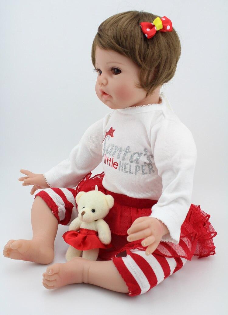 55 cm grande poupée en Silicone faite à la main pour enfants réaliste Silicone souple Reborn bébé poupées éducation précoce poupées cadeaux bébé Brinquedos