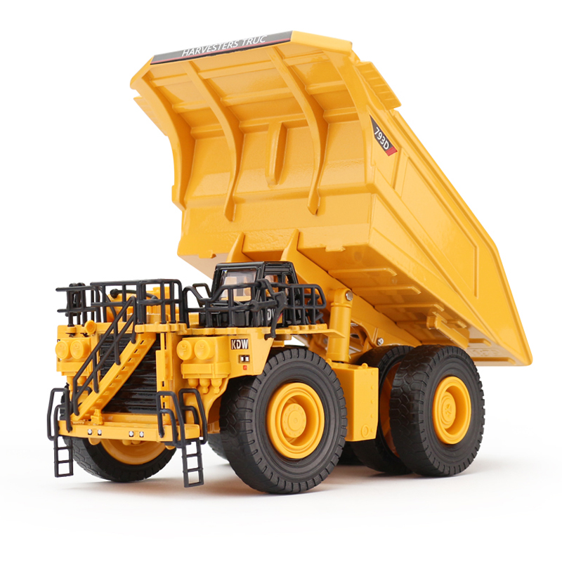 Alloy Diecast Dumper Mine Truck Tittle Cart 1:75 Metal Harvester Truck Diecast Model Construction Collections Children Hobby Toy