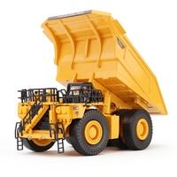 Alloy Diecast Dumper Mine Truck Tittle Cart 1:75 Metal Harvester Truck Diecast Model Construction Collections Children Hobby Toy