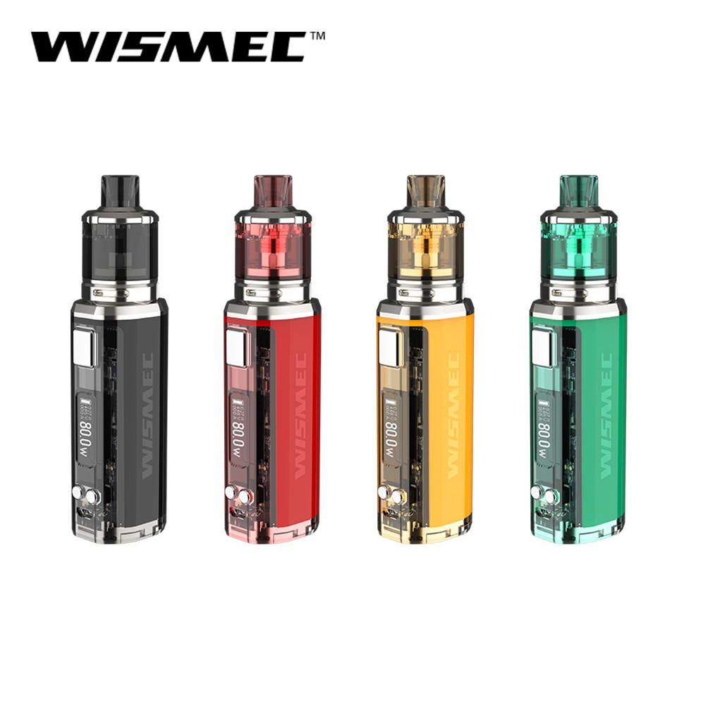 Original WISMEC SINUOUS V80 Kit with Amor NSE Tank 80w 3ml WS04 MTL 1 3ohm WS