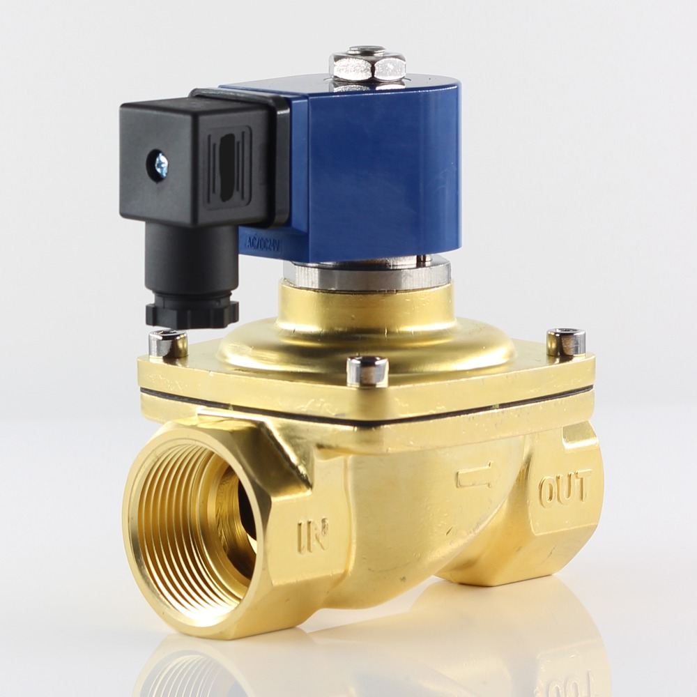 "3//8/"" Brass Fast Close Air Water Electric Solenoid Valve Normally Closed 110V AC"