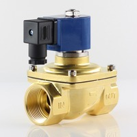DC 24V,AC 220V 110V 24V,SMS Large diameter Direct Acting Normally Closed Solenoid Valve,brass Water air valves,G3/8 to G2,