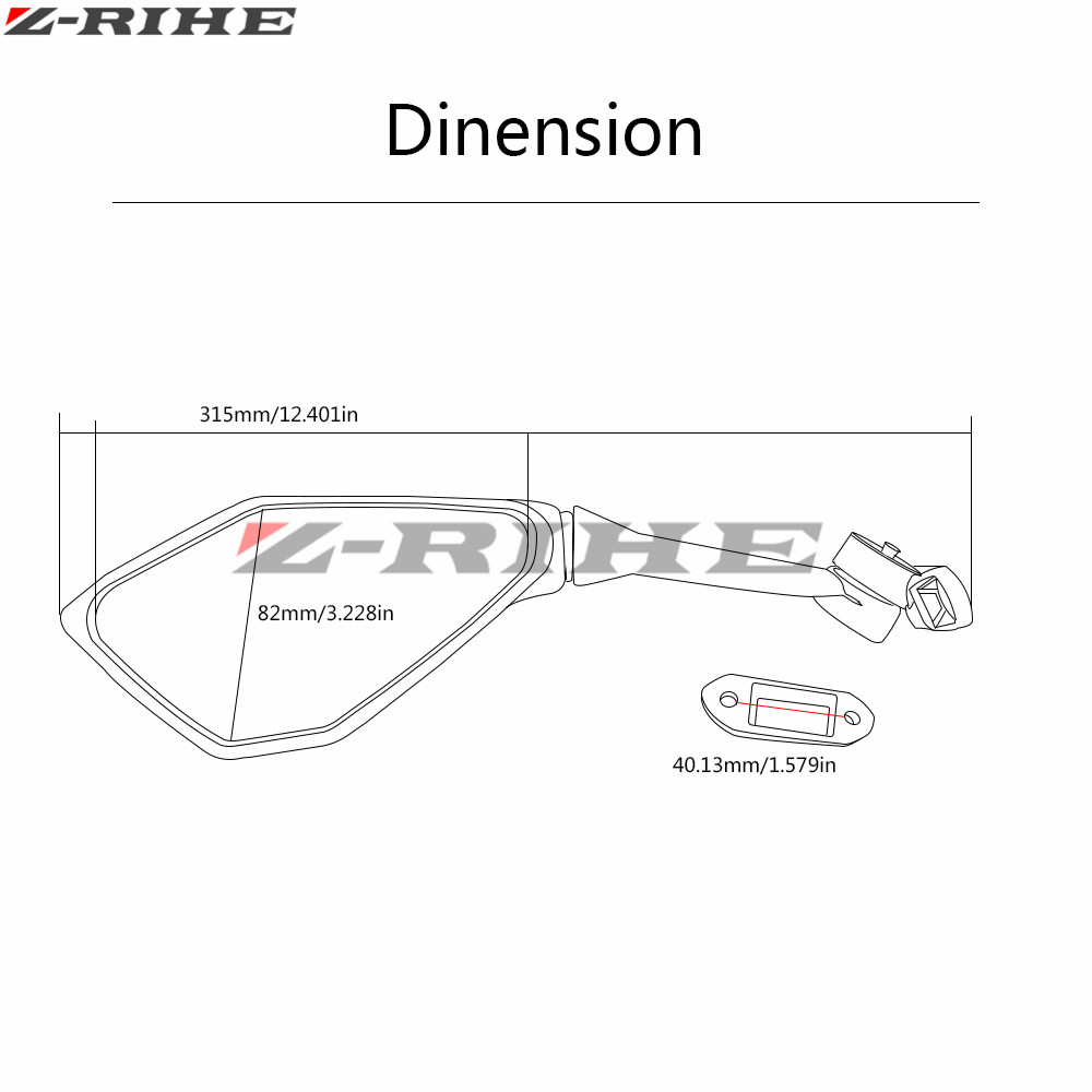 Hyosung Gt 125 R Wiring Diagram Electrical Diagrams Motorcycle Mirror Black Moto Rearview Side For Honda Cbr 900
