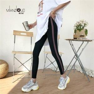 Image 4 - 2019 nowych moda damska wiosną i jesienią wysokiej elastyczności i dobrej jakości Slim Fitness Capris Streetwear legginsy spodnie bawełniane
