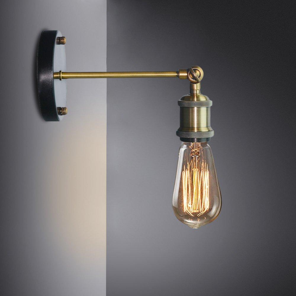 Louis Poulsen <font><b>Sconce</b></font> Wall Lamp Vintage Loft Wall Light E27 Edison Bulb Plated Iron Retro Industrial Home Lighting Bedside Lamp