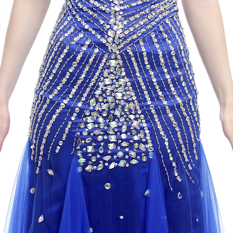Forevergracedress Real Picture Blue Prom Klänning Ny Style - Särskilda tillfällen klänningar - Foto 6
