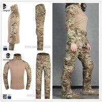 Emersongear Тактический женщина G3 армейские форма Штаны и рубашка airsoft Multicam военные камуфляж охота Маскировочные костюмы одежда
