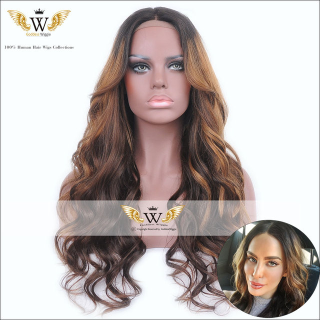 5A Goddess Wiggie Full Lace Ombre Human Hair Wigs For Black Women Remi Hair  Lace Front Wigs  Human Hair Wigs 4416308b44