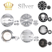 5 Hole Silver Engine Derby Timer Timing Cover For 1999 2014 Harley Twin Cam Softail Touring Road King Electra Dyna