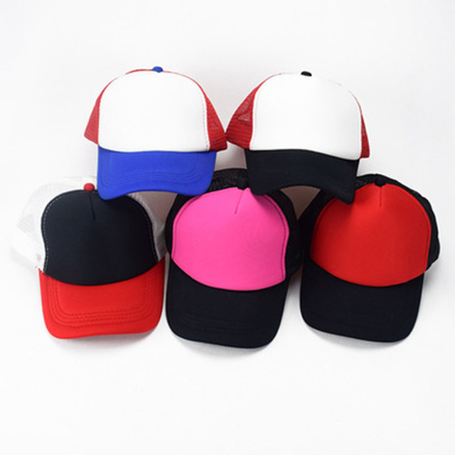 Unisex cosplay stranger things cap hat mesh baseball caps Dustin hats solid  color snapback hats casual 2a4623ee07c8