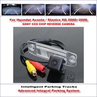 Intelligent Parking Tracks Car Rear Camera For Hyundai Avante / Elantra XD Backup Reverse / NTSC RCA AUX HD SONY 580 TV Lines
