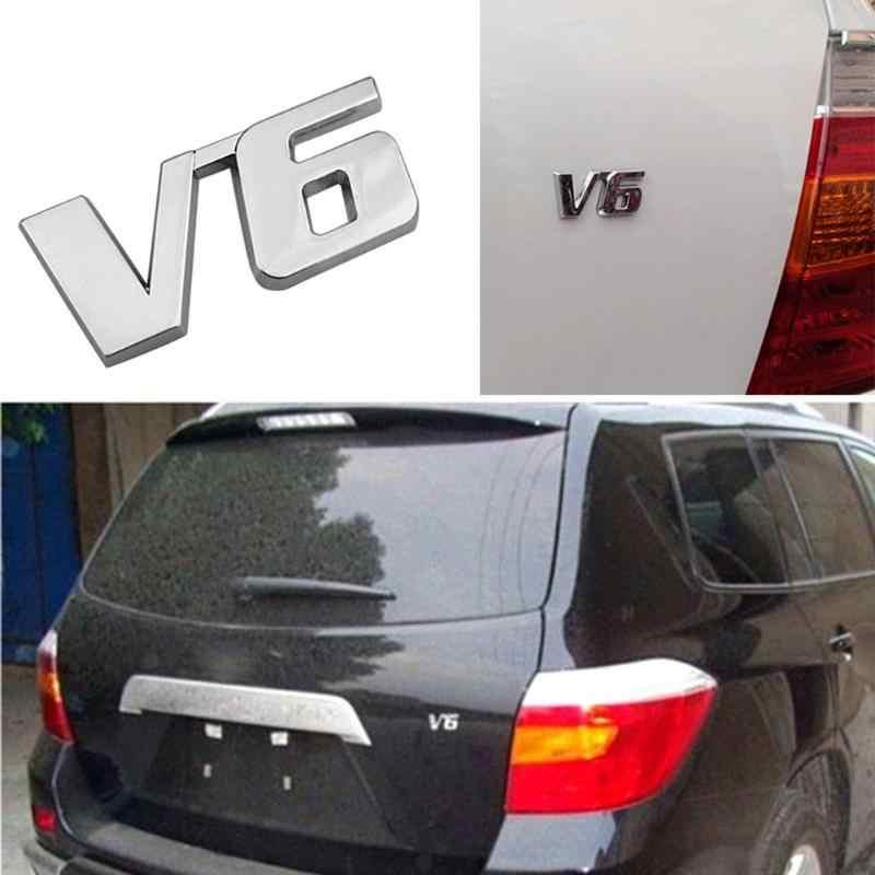 3D de Metal de cromo emblema, etiqueta engomada del logotipo, V6/V8 Auto del coche Placa de puerta trasera de la tapa del maletero emblema insignia etiqueta de estilo de coche