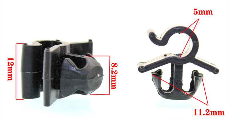 compare prices on wire harness clips online shopping buy low 10pcs auto machine cover support bar iron pillar line circuit wiring harness fixed button card clip